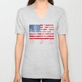 USA Darts - Flag of America Unisex V-Neck