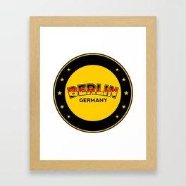 Berlin, circle, black Framed Art Print