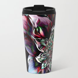 Watercolor Flower Abstract Travel Mug