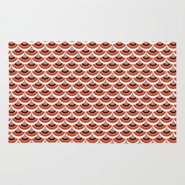 Retro Inspired Mermaid Scales Pattern Rug
