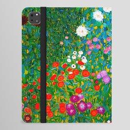 Gustav Klimt - Flower Garden iPad Folio Case