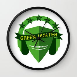GREEN HUNTER Wall Clock