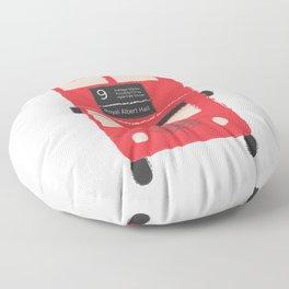 Red Double Decker Bus  Floor Pillow