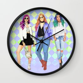 Back To School / Back To Saly Wall Clock