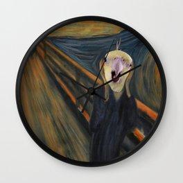 The Screm - cockatiel Munch Wall Clock