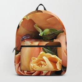 Peach Roses Backpack