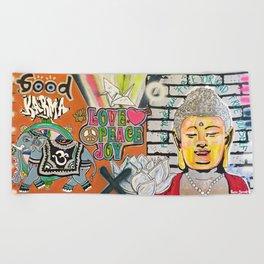 Good Karma Buddha Beach Towel