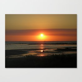 Angel Wings Sunset Canvas Print