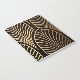 Art nouveau Black,bronze,gold,art deco,vintage,elegant,chic,belle époque Notebook