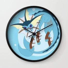 Water Steampunk Fox Wall Clock