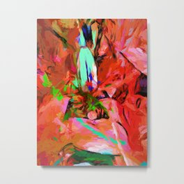 Lily Love Graffiti Green Metal Print