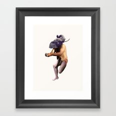 Bathing Elephant Framed Art Print
