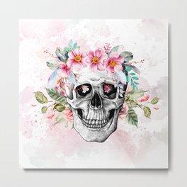 BeautySkull Metal Print