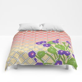 Morning Glory At Sunset Comforters