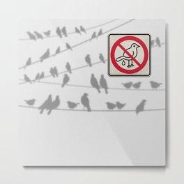 Birds Sign - NO droppings 4 Metal Print