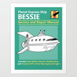 Bessie Service and Repair Manual Art Print