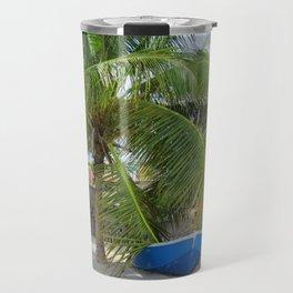 BLUE CARIBBEAN BOAT Travel Mug