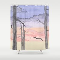 twilight Shower Curtains featuring Twilight  by Hayley Lang