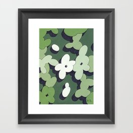 Mono Pattern | The Cactuses Framed Art Print