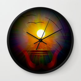 Abstract in perfection - Fertile Imagination sunrise Wall Clock