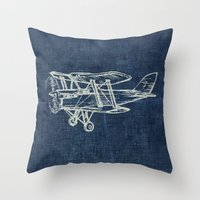 plane Throw Pillows featuring Plane by Mr and Mrs Quirynen