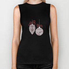 Christmas Ornaments Biker Tank