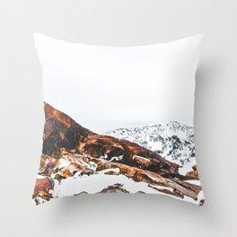 Rocky Peak Throw Pillow