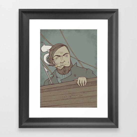 Ahab and the Whale Framed Art Print