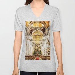 Cathedral Sicily, Italy Unisex V-Neck