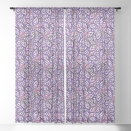 I don't need to improve - Purple and pink Sheer Curtain