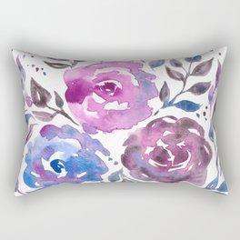 Dreamy Watercolor Flowers Rectangular Pillow