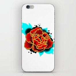Red Peony  iPhone Skin