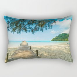 Sea beach in hot summer Rectangular Pillow