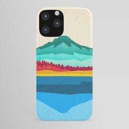Mount Hood and Trillium Lake iPhone Case