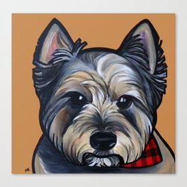 Rigoletto the cairn terrier Canvas Print