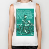 palestine Biker Tanks featuring T.E. Lawrence on his Brough Superior by Saddle Bums