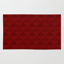 Red geometric pattern . Rug