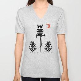 Boho Animals Owl Unisex V-Neck