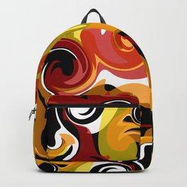 Molten Lava Swirls Backpack