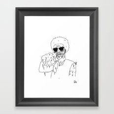 Does He Look Like a Bitch? Framed Art Print