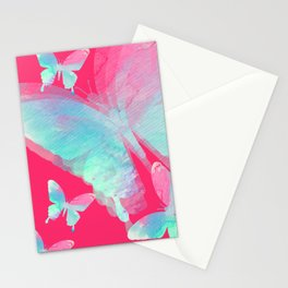 Butterfly dream duotone Stationery Cards