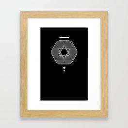 Mesh Geometry III Black Framed Art Print