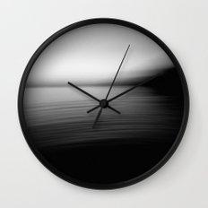 Flow (B&W) Wall Clock