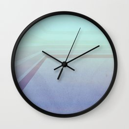 Horizontal flight (Blue edition) Wall Clock