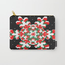 Stain Glass Snow Flake - Christmas Series Carry-All Pouch