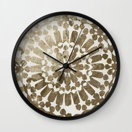 Moroccan Gold I Wall Clock