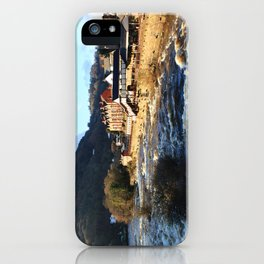 Llangollen Railway Station by the River Dee, Wales iPhone Case