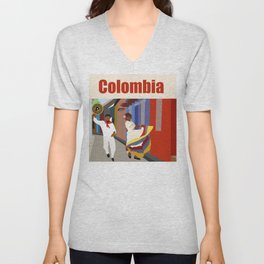 Colombian dance Unisex V-Neck