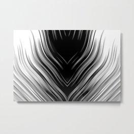 stripes wave pattern 3 bwii Metal Print