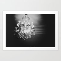chandelier Art Prints featuring Chandelier  by Elsa Harley